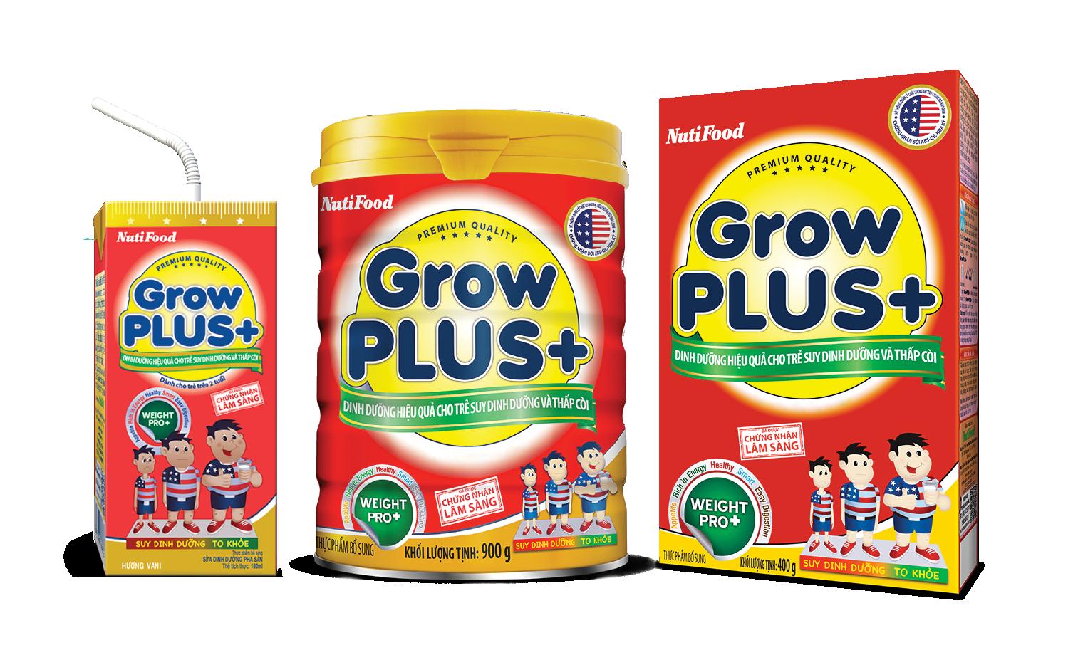 Sữa Growplus+ cho trẻ suy dinh dưỡng